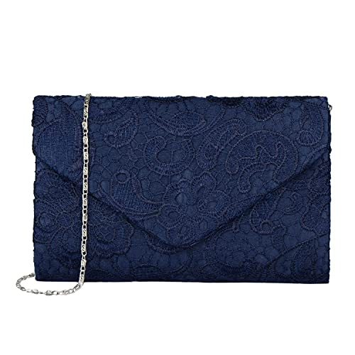 3a56d946aecc Baglamor Women s Elegant Floral Lace Envelope Clutch Evening Prom Handbag  Purse