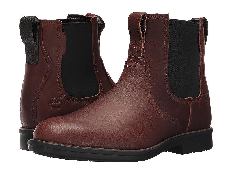 Timberland Carter Notch Plain Toe Chelsea (Dark Brown Full Grain) Men