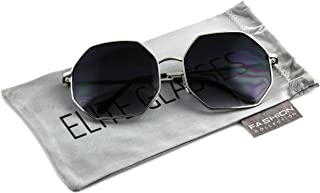 630069ca31e Elite Glasses HUGE OVERSIZE LARGE VINTAGE HEXAGON RETRO Style SUNGLASSES