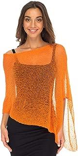 Back From Bali Womens Sheer Poncho Shrug Bolero, Lightweight Summer Shrug Pullover Sweater