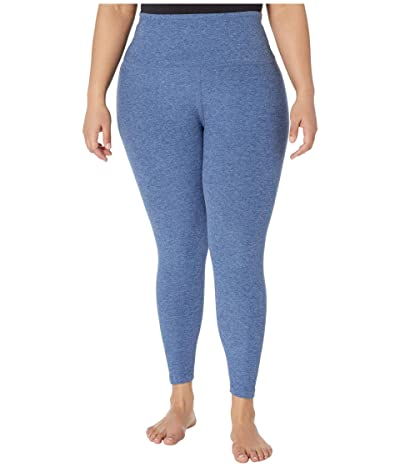 Beyond Yoga Plus Size High Waisted Midi Leggings (Serene Blue/Hazy Blue) Women