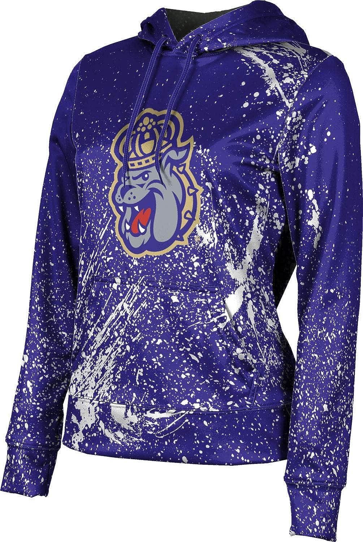 James Madison University Girls' Pullover Hoodie, School Spirit Sweatshirt (Splatter)