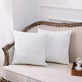 NATUS WEAVER Set of 2, Soft Velvet White Square Pillow Case Decorative Throw Cushion Cover Pillowcase with Hidden Zipper for Couch Bench 22