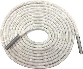 white wax shoe laces