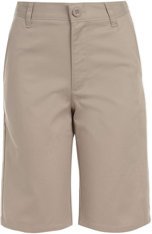 Chaps Boys' School Uniform Flat Front Twill Short