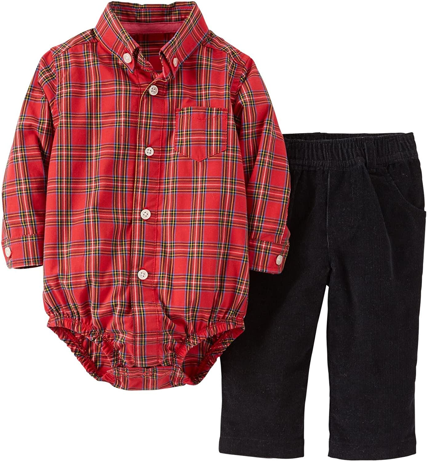 Carter's Baby Boys' 2 Piece Pant Set (Baby) - Red - 24 Months