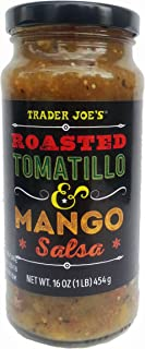Trader Joe's Roasted Tomatillo & Mango Salsa, 16 oz Jar