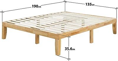 Zinus Cama de plataforma de madera Moiz de 35,6 cm, Camas de ...