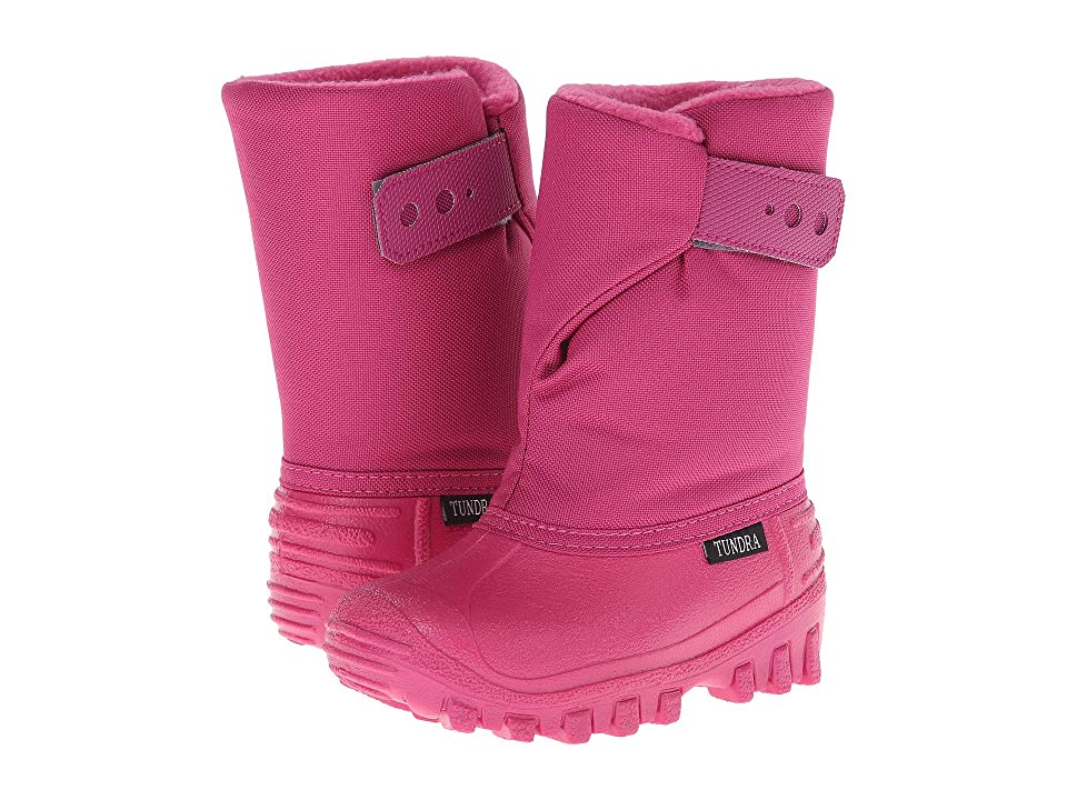 Tundra Boots Kids Teddy 4 (Toddler/Little Kid) (Cherry/candy pink) Girls Shoes
