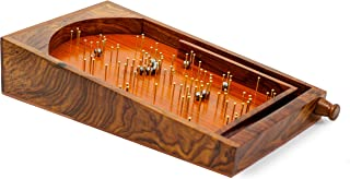 Bagatelle Traditional Wooden Crafted Tabletop Pinball Game | Exclusive Kid's Toys Decor & Gifts | Nagina International (Me...