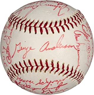 1970 Three Rivers Stadium Opening Game Cincinnati Reds Team Signed Baseball JSA