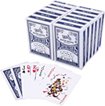 LotFancy Playing Cards, Poker Size Standard Index, Decks of Cards (Blue or Red), for Blackjack, Euchre, Canasta Card Game, Casino Grade