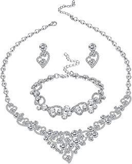 Best silver bridal necklace set Reviews