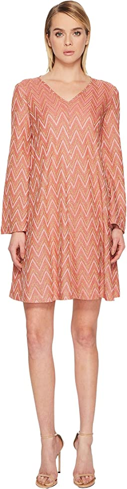 Lurex Jersey Zigzag Dress