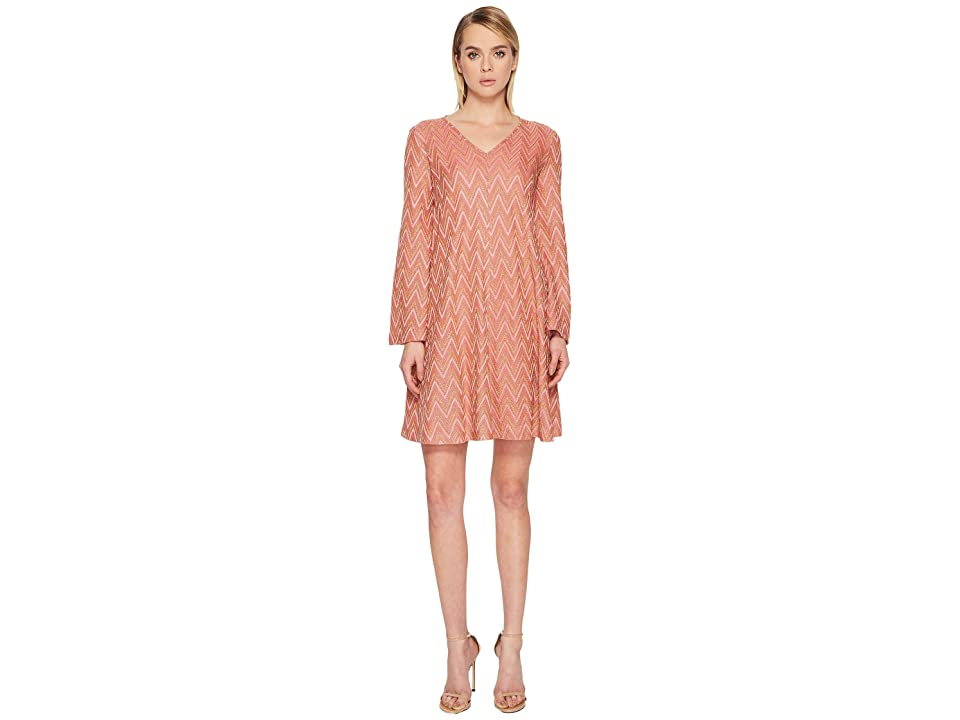 M Missoni Lurex Jersey Zigzag Dress (Pink) Women