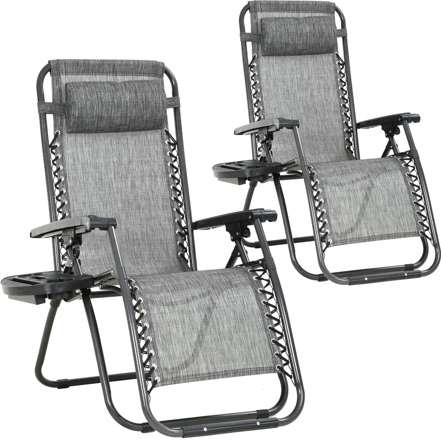 Zero Gravity Chair Patio Chairs Set of 2 Lawn Chair Outdoor Chair Deck Chairs Camping Chairs Folding Lounge Chair Beach Chairs Anti Recliner Pool Chair