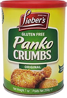 Lieber's Panko Crumbs, Gluten Free, Kosher For Passover, 7 Ounce Canister (Single)