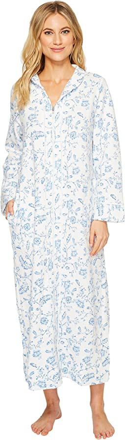 Carole Hochman - Printed Long Zip Robe