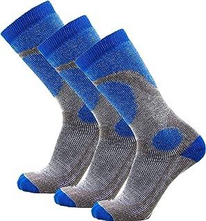 Pure Athlete Elite Ski Socks for Boys and Girls - Kids Merino Wool Youth Snowboard and Skiing Socks - Junior Warm Winter Sock