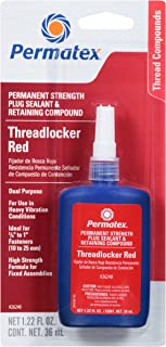 Permatex 26240 Permanent Strength Threadlocker Red, 36 ml Bottle