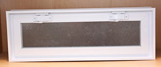 Quality Glass Block 22 x 8 x 3 White Energy Smart Glass Block Vents