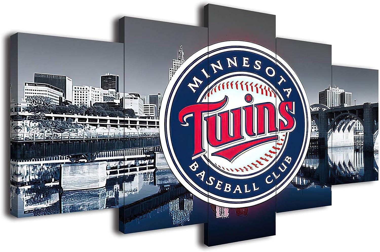 Minnesota Twins 予約販売 Baseball Poster Canvas Art ☆送料無料☆ 当日発送可能 Wall Prints Liv Decor