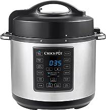 Crock Pot CSC051X-01 Multi-Cuiseur Express, Mijoteuse, Cuiseur Vapeur et Sauté Programmables 12 en 1-5 1000 W 5.6 L, Argent