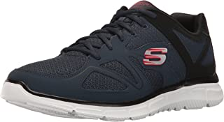 Skechers Sport Men's Satisfaction Flash Point Oxford,Navy/Black,12 M US