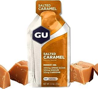 GU Energy Original Sports Nutrition Energy Gel, 24-Count, Salted Caramel
