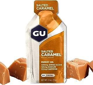 GU Energy Original Sports Nutrition Energy Gel, Salted Caramel, 24 Count Box