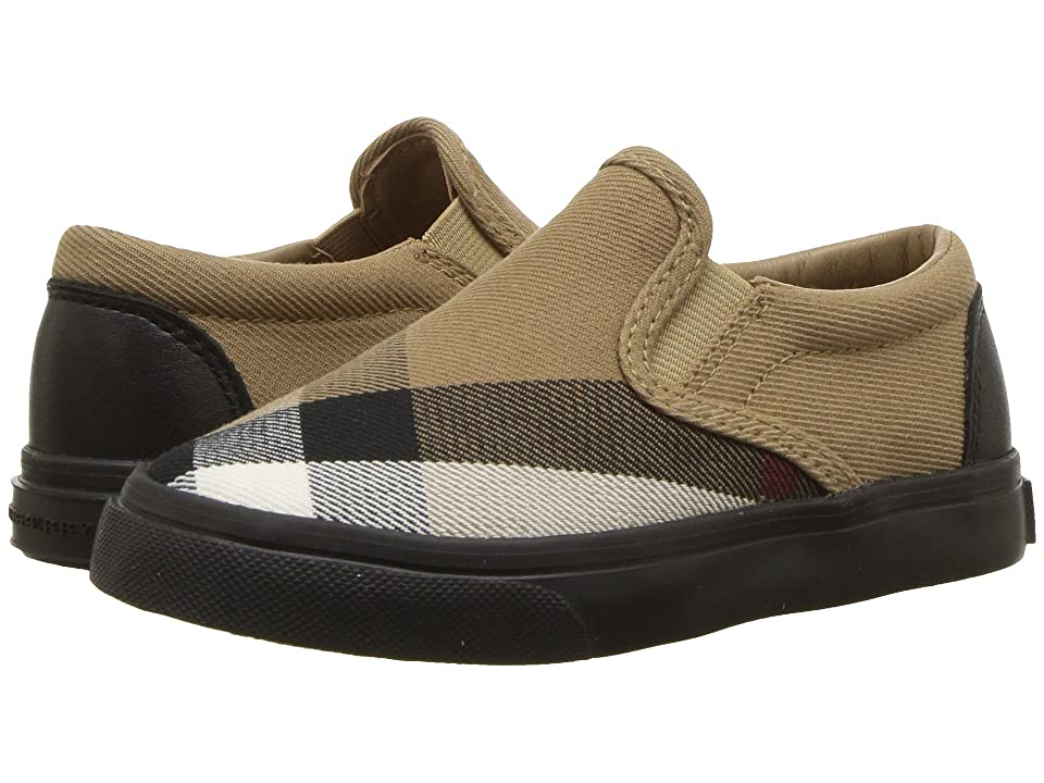 Burberry Kids Linus Check Trainer (Toddler) (Classic/Black) Kid