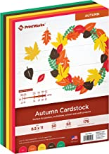 """Printworks Autumn Cardstock, 5 Assorted Colors, Perfect for Holiday School and Craft Projects, 200 Sheets, 8.5"""" x 11"""" (00598)"""