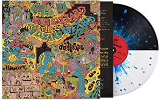 Oddments - Exclusive Limited Edition Black & White Split With Cyan Blue Splatter