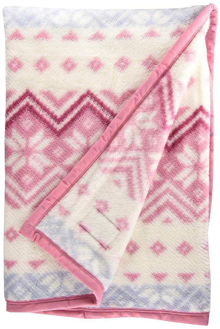 案件噛む滑りやすい西川(Nishikawa) 毛布 ピンク シングル 軽量 あったか 日本製 マイモデル 冬ニット柄 FQ08050013P
