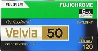 FUJIFILM リバーサルフィルム フジクローム Velvia 50 ブローニー 12枚 5本 120 VELVIA50 EP NP 12EX 5