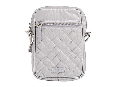Vera Bradley RFID Convertible Small Crossbody (Silver Pearl) Handbags