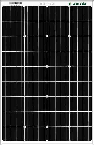 Loom Solar 125 watt-12 Volt Mono PERC Panel (Pack of 2)