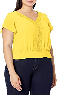 A. Byer womens Flutter Sleeve Tie Back Top Blouse