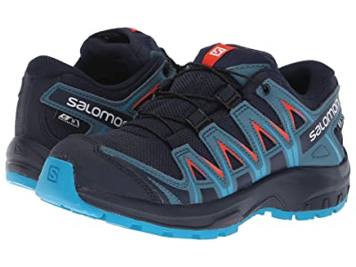 Salomon Kids Xa Pro 3D Cswp (Little Kid/Big Kid) (Navy Blazer/Mallard Blue/Hawaiian Surf) Boys Shoes