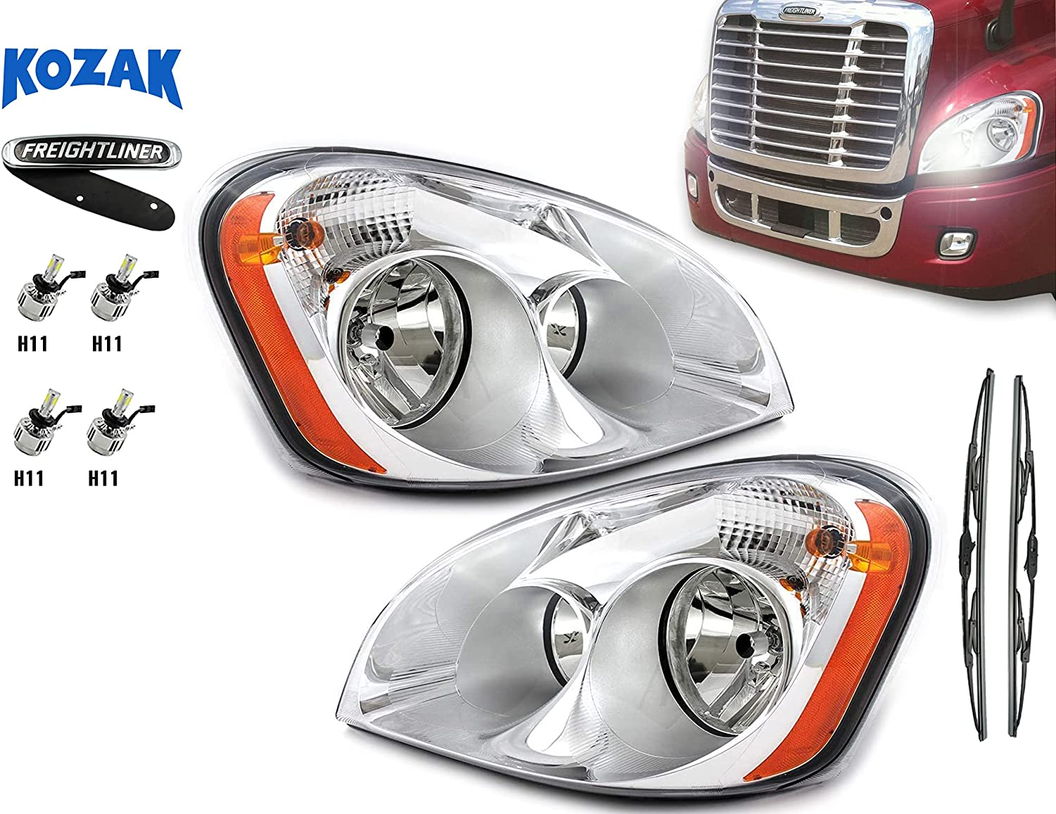 FREIGHTLINER CASCADIA Sale special price All stores are sold HEADLIGHT HALOGEN + Replacement LED Headli