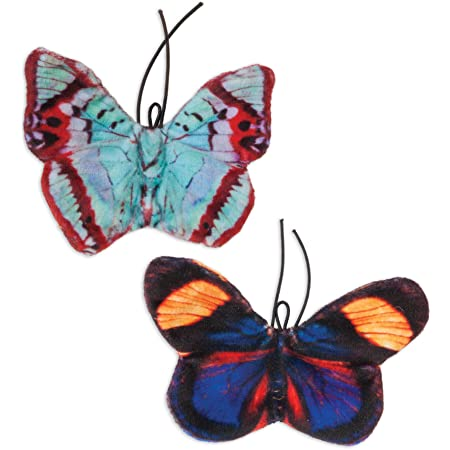 JACKSON GALAXY 32443 Crinkle Flies-Butterfly for Cats (2 Pack)