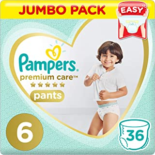 Pampers Premium Care Pants Diapers, Size 6, Extra Large, 16kg, 36 Count