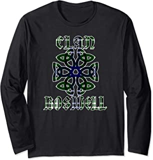 Boswell Scottish Clan Family Name Tartan Knot Long Sleeve T-Shirt