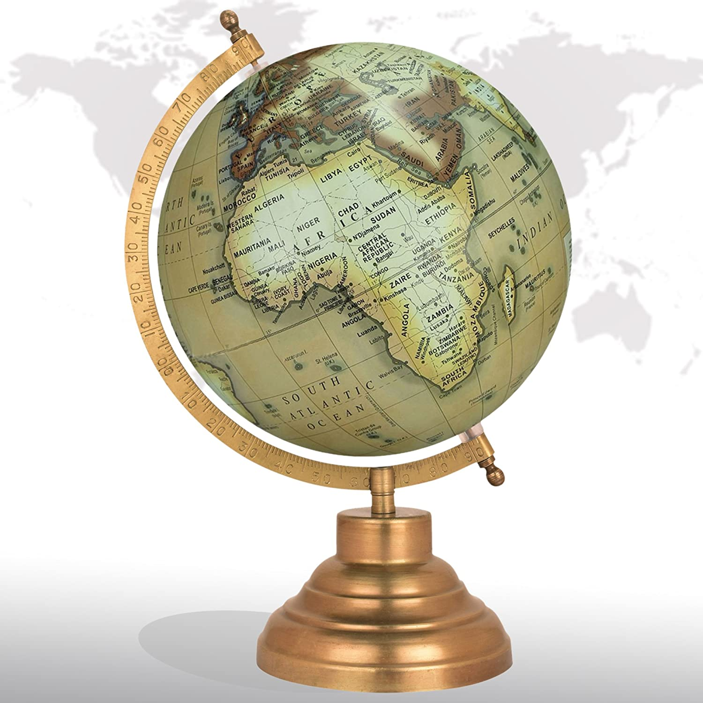 Max 80% OFF Desktop Rotating Globe Georgraphy World Map Green 8