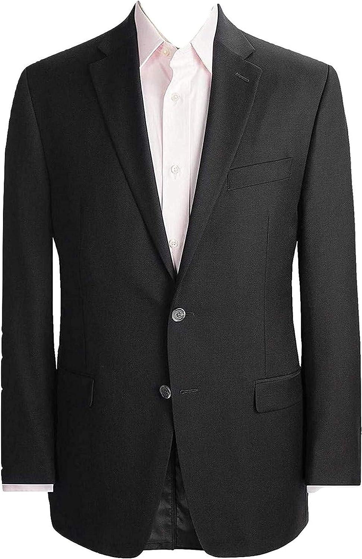 LAUREN RALPH LAUREN Solid Black Ultraflex Wool Blazer (48R)
