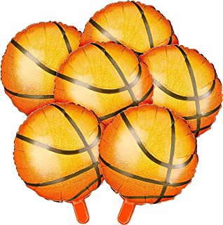 Balloon Party Supplies, Basketball Balloons Aluminum Foil by KASTWAVE, 18 Inch for Birthday World Game Sports Basketball T...