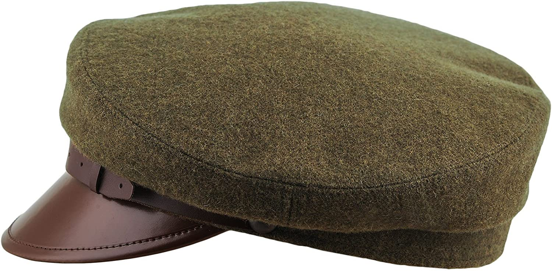 Sterkowski Maciejowka Model 1 Cap   100% Woolen Breton Cap   Polish Traditional Military Peaked Mens Vintage Hat