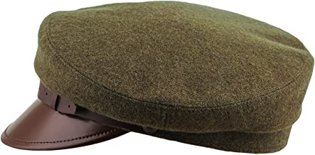 Sterkowski Maciejowka Model 1 Cap | 100% Woolen Breton Cap | Polish Traditional Military Peaked Mens Vintage Hat