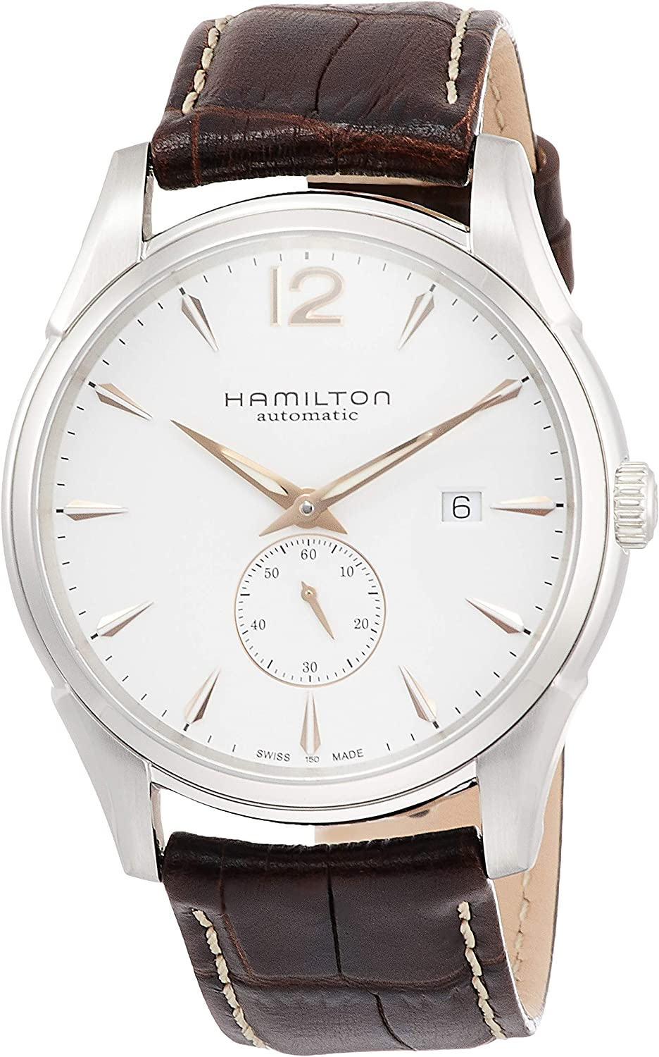 Hamilton Men's H38655515 Jazzmaster We OFFer at cheap prices Slim Dial White Watch NEW