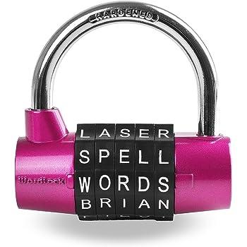 Wordlock Combination Padlock – 5 Dial, Pink